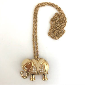 KJL Kenneth Jay Lane for Avon, Elephant Pin/Pendan